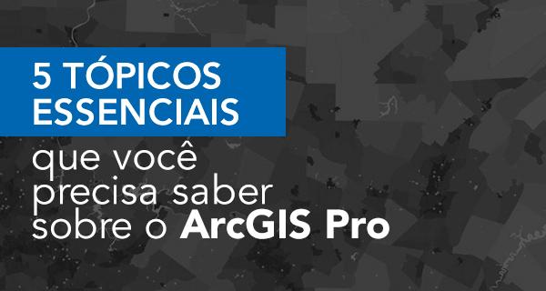 5 tópicos essenciais que você precisa saber sobre o ArcGIS Pro