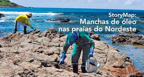 StoryMap: Manchas de óleo nas praias do Nordeste
